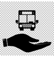Bus sign Save or protect symbol vector image
