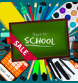 back to school background with vector image