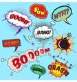 Comic speech bubbles design elements collection vector image
