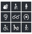 Disability Icons Set vector image