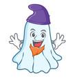 elf cute ghost character cartoon vector image