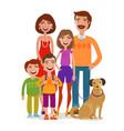 family portrait happy people children parents vector image