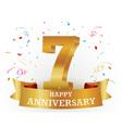 Happy anniversary celebration with confetti vector image