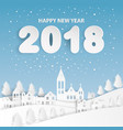 happy new year 2018 text design with country vector image