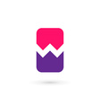 Mobile phone app letter W logo icon design vector image
