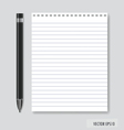Pen and Paper ready for your text vector image