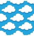 Seamless cartoon cloudscape pattern on cyan vector image