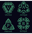 Set of Monochrome Monogram Design Templates vector image