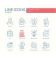Stress at work - line design icons set vector image