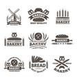 vintage bakery labels set logo template in vector image