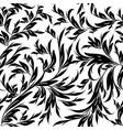 vintage black white floral seamless pattern vector image