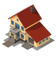 American Cottage Small Wooden House vector image