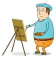 fat painter vector image vector image