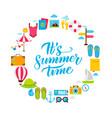 summer time flat circle vector image vector image