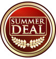 summer deal icon vector image vector image