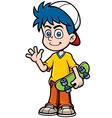Boy skating vector image vector image