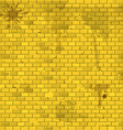 Old dirty yellow brick wall background vector image