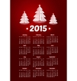2015 new year calendar with realistic paper vector image vector image
