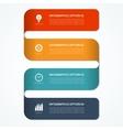 Modern minimal infographic banner vector image