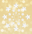 Star circle background vector image
