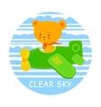 Pilot bear vector image