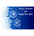 blue Merry Christmas and Happy New Year vector image