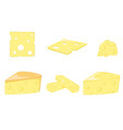 cheese collection and vector image