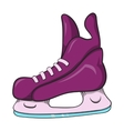 Ice hockey skates icon cartoon style vector image