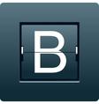Letter B from mechanical scoreboard vector image