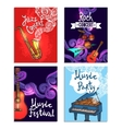 Music Mini Poster Set vector image