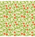 seamless cranberries stylized background pattern vector image