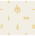Seamless pattern with Aztec number symbols vector image