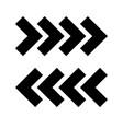 traffic arrows vector image