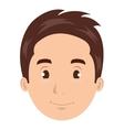 Young man face cartoon design vector image