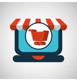 online shopping cart concept vector image