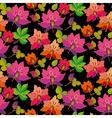 seamless pattern of feirytale flowers on black vector image
