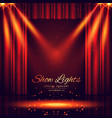 beautiful theater stage with lights focus vector image