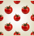 seamless background of tomato vector image