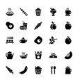 food icons 1 vector image