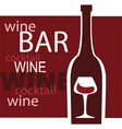 wine and bar vector image