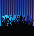party people blue vector image