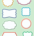 ornate paper frames vector image