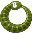 snake ring vector image vector image