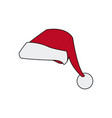 christmas hat clothing accessory decoration vector image