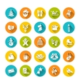 Christmas symbols flat icons set vector image