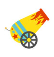 circus cannon flat icon vector image