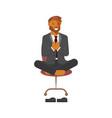 flat design businessman vector image