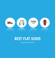 flat icon garment set of underclothes trunks vector image