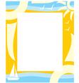 frame summer vector image