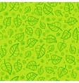 Green foliage cartoon seamless pattern vector image
